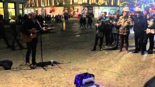 Just Tom - Cover One (U2) Dam square Amsterdam 2016