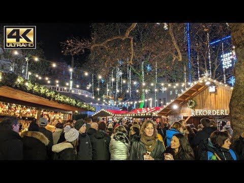 ⁴ᴷ London Christmas Market Leicester Square - London Christmas Walking