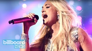 Carrie Underwood Makes Emotional Return With 'Cry Pretty' Performance at ACM Awards | Billboard News