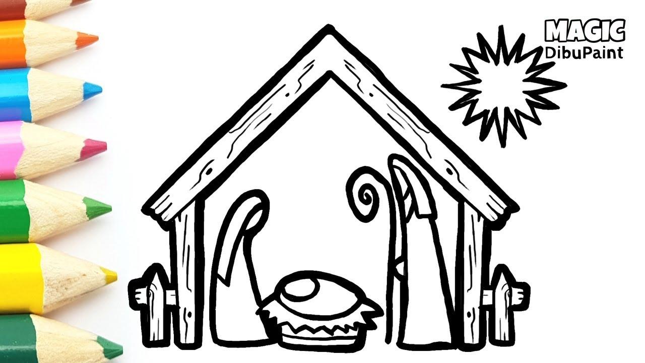 Dibujos De Navidad Con Jesus.Dibujos De Navidad Dibujar Nacimiento De Jesus Paso A Paso