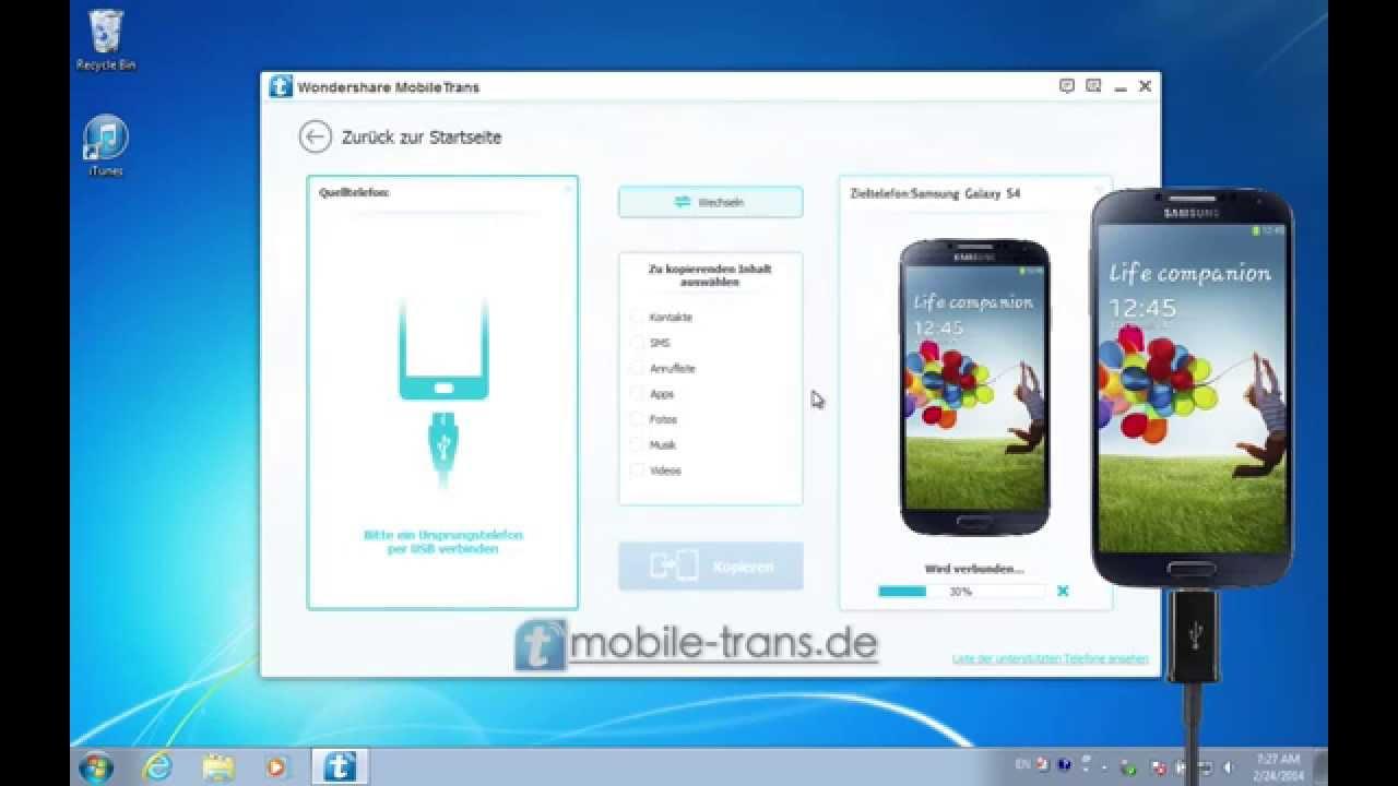 Samsung S4 Mini Kontakte Auf Iphone Übertragen