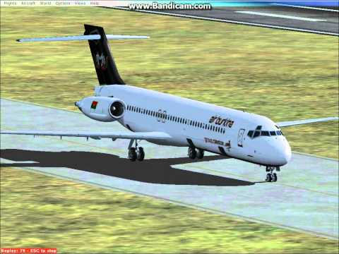 MD 87 Air Burkina landing Ouagadougou Airport