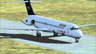 MD 87 Air Burkina landing Ouagadougou Airport