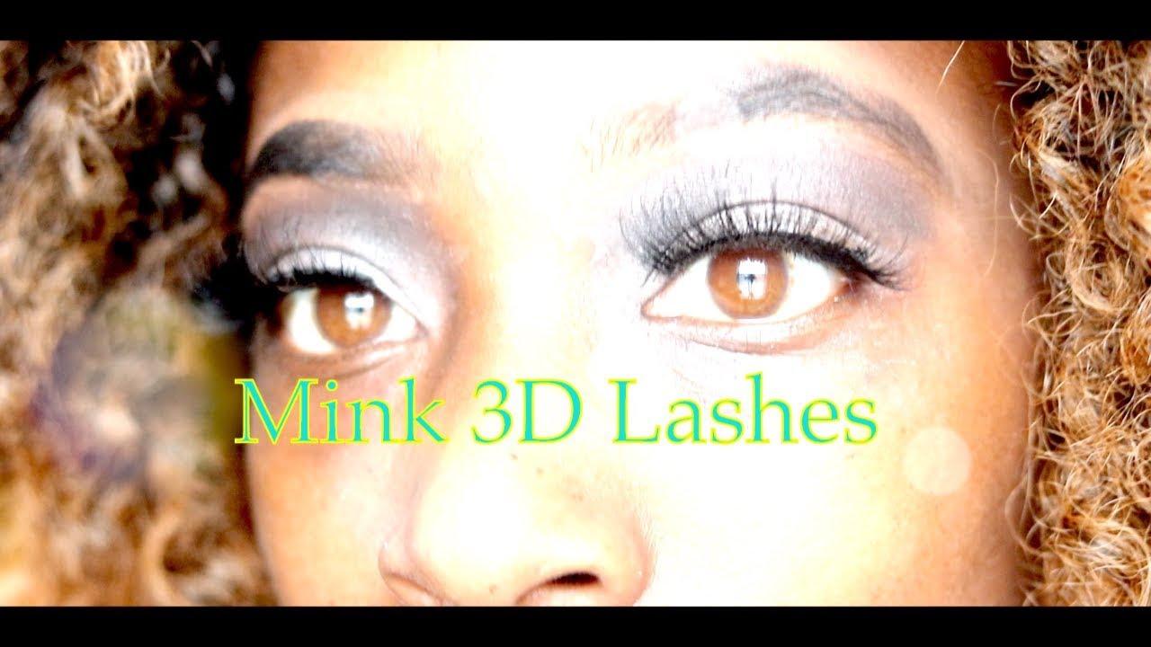 81e5a3e7679 Mink 3D Lashes by Miss Kiss Eyelash - YouTube
