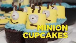 How To Make a Minions Brownie Cupcake