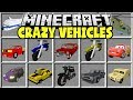 Minecraft CRAZY VEHICLES MOD | DRIVE AROUND IN CARS, PLANES, HELICOPTERS & MORE!!