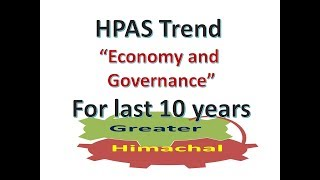 """HPAS Trend of """"Economy and Governance"""" for last 10 years"""