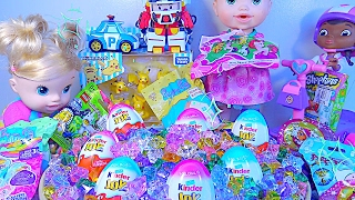 Kinder Joy Surprise Eggs Peppa Pig Shopkins LEGO Blind Bags Robocar Poli Baby Doll