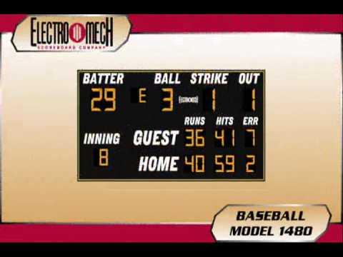 Baseball Scoreboards by Electro-Mech (LED)