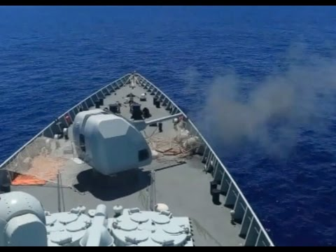 Chinese Navy Conducts Live fire Drill at East Indian Ocean
