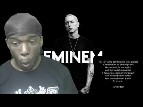 Eminem - Campaign Speech Lyrics REACTION!!!