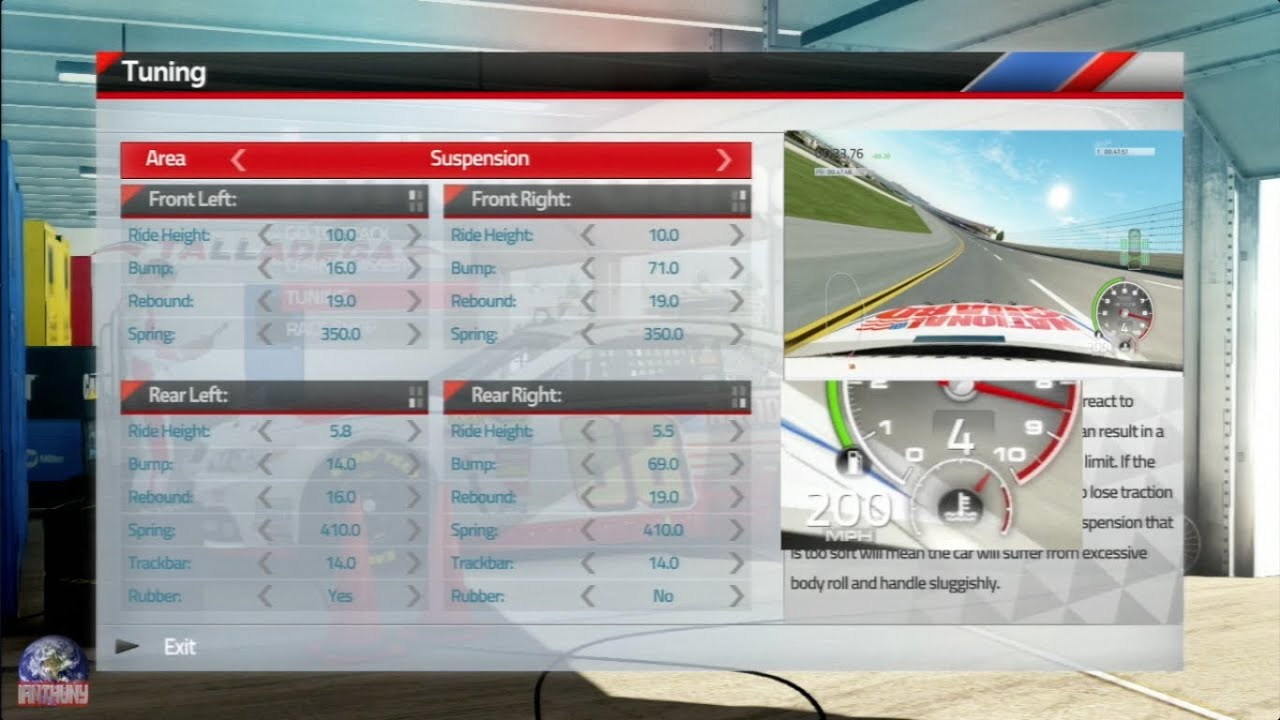NASCAR 14 TALLADEGA Setup YouTube