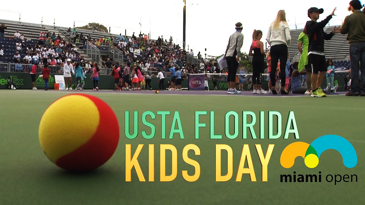 2016 USTA Florida Kids Day at Miami Open - YouTube