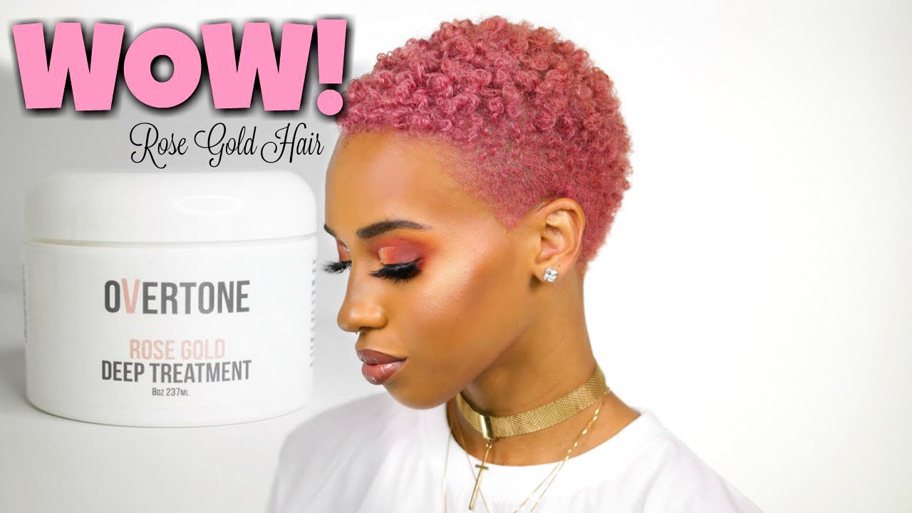 How To Dye Treat Rose Gold Hair Youtube