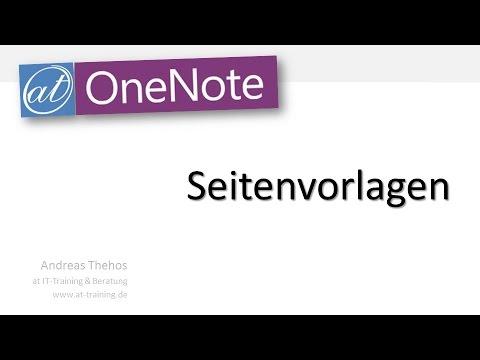 OneNote - Seitenvorlagen