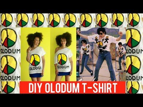 ☮ DIY Olodum T Shirt ☮ Michael Jackson + Olodum Inspired 🌍 Heal The World 🌍