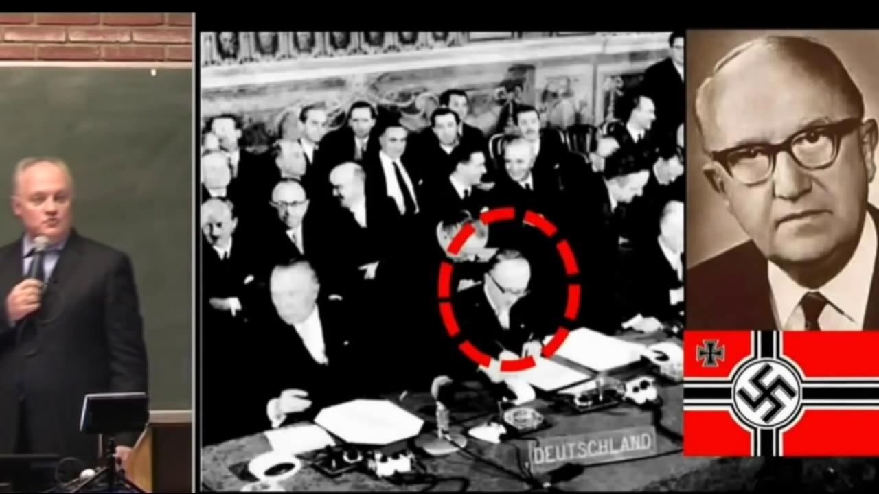 WALTER HALLSTEIN -1er président de la commission européenne en 1958  expliqué par Asselineau - YouTube