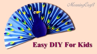Easy Paper Peacock For Kids - DIY