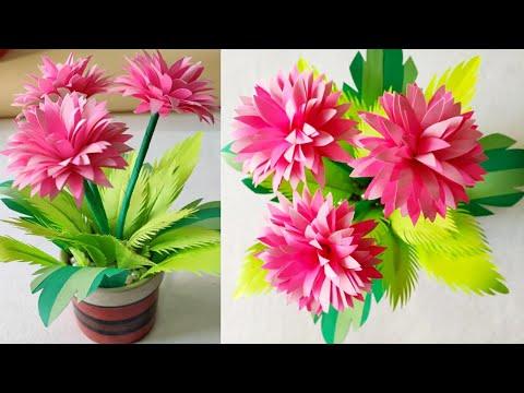 How to make Beautiful Paper Flower Bouquet/Room Decoration Idea/Handmade Guldasta