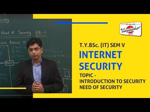 Network Security - Topic Need of Security taught @ Vidyalankar