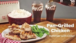 yummier with coke pan grilled chicken