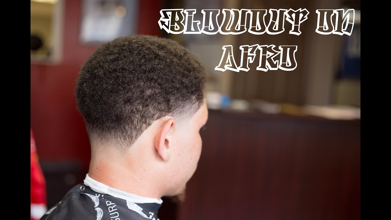 How To Fade Blowout On Afro Haircut With Subtitles Youtube