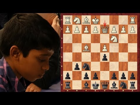 The Youngest International master in the world crushes a GM! - Bachmann vs Praggnanandhaa 2016