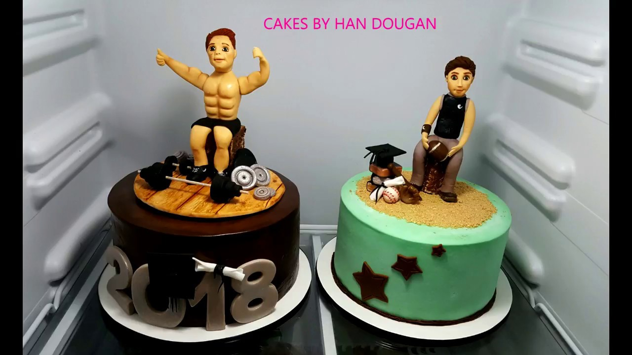 Football And Weight Lifting Graduation Cake 2018 Youtube
