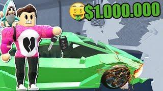 DESTRUCTING a 1,000,000 DOLARES CAR Roblox Cerso