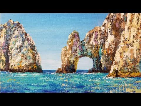 Ocean Seascape Acrylic Painting LIVE Palette Knife Instruction