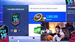 DAS 1.000.000 COINS BLACK FRIDAY PACK MIT SCHWESTER 😱🔥 Fifa 19 Pack Opening