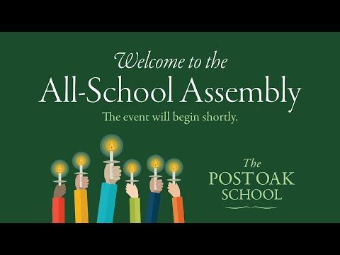 The Post Oak School's All-School Assembly