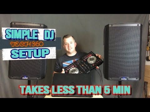 A SIMPLE DJ SETUP!  GREAT FOR BEGINNERS!