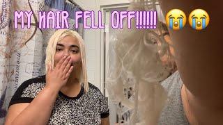 I Fried My Hair Off ( BLEACH FAIL ) PT 1