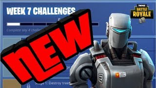 HOW TO UNLOCK THE HUNTING PARTY SKIN (A.I.M) NEW WEEK 7 CHALLENGES LEAKS (Fortnite Battle Royale)