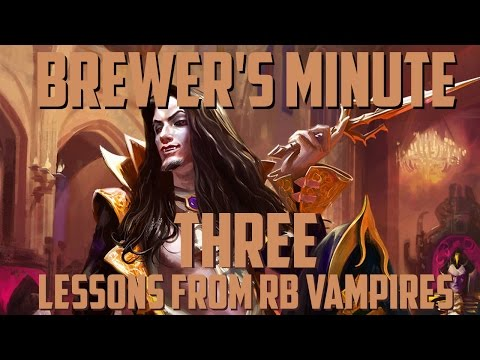 Brewer's Minute: Three Lessons from RB Vampires