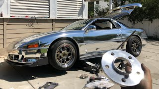 How to Fix Wheel Fitment With EBay Spacers 3000GT VR4