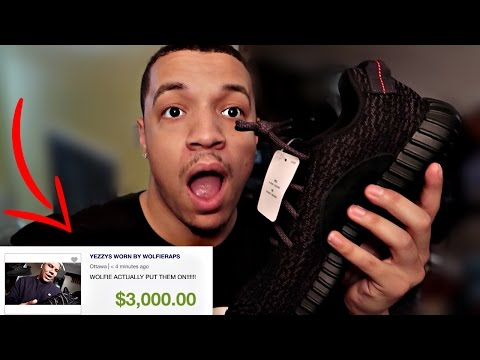SELLING MY BROTHERS NEW YEEZY'S ONLINE PRANK!!