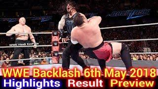 vuclip WWE Backlash 6th May 2018 Highlights Hindi Preview - Roman Reigns vs Samoa Joe | Brock Lesnar Attack
