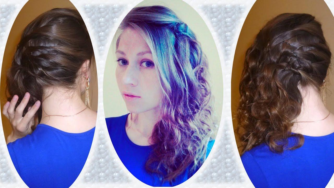 Как закреплять волосы на одну сторону
