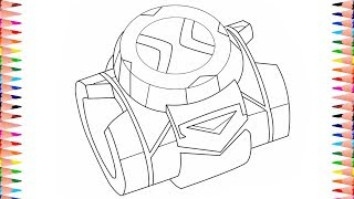 Colouring Pages Ben 10 Reboot New Omnitrix | Coloring Video | Coloring Book Page