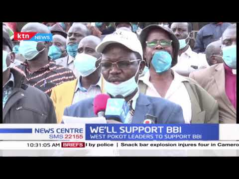 West Pokot leaders led by Governor Lonyangapuo vow to drum up support for the BBI draft report