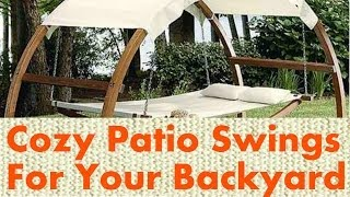 9 Cozy Patio Swing Designs For Your Backyard
