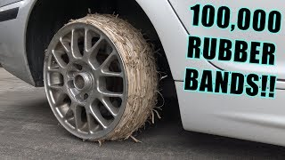Download We Tried RUBBER BAND Tires Mp3 and Videos