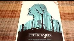 RARE Mondo Olly Moss RETURN OF THE JEDI 2010 Screen print Poster Art collection Review star wars