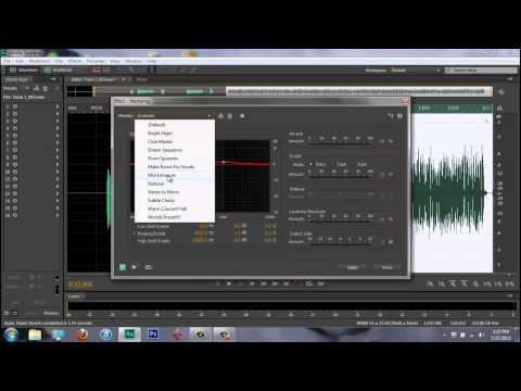 ADOBE AUDITION CS6 - Mixing Rap Vocals (2013)