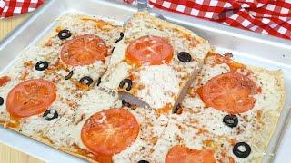 Pizza de Tapioca Saudável Rápida e Pratica