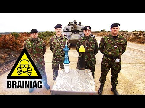 Cracking Open a Safe With a Tank | Brainiac