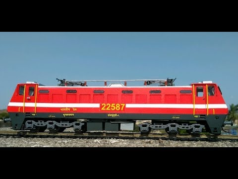 Making WAP-4 model – Indian train model