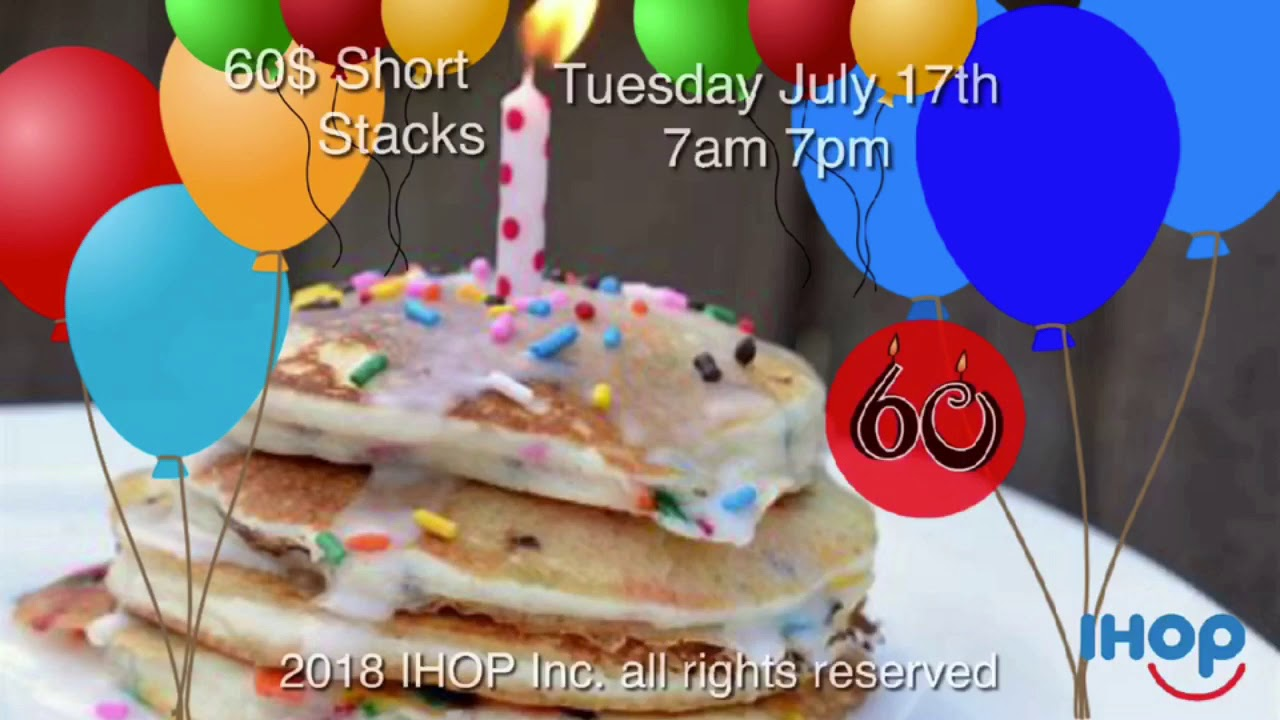 Happy Birthday Pancakes IHOP Commercial 2108